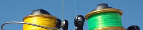 linhas de pesca coloridas