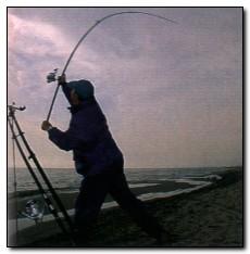 técnica Pesca Surfcasting - pesca na praia