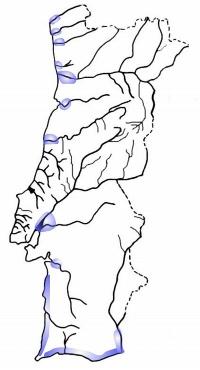 mapa de distribuição tainha liza ramada